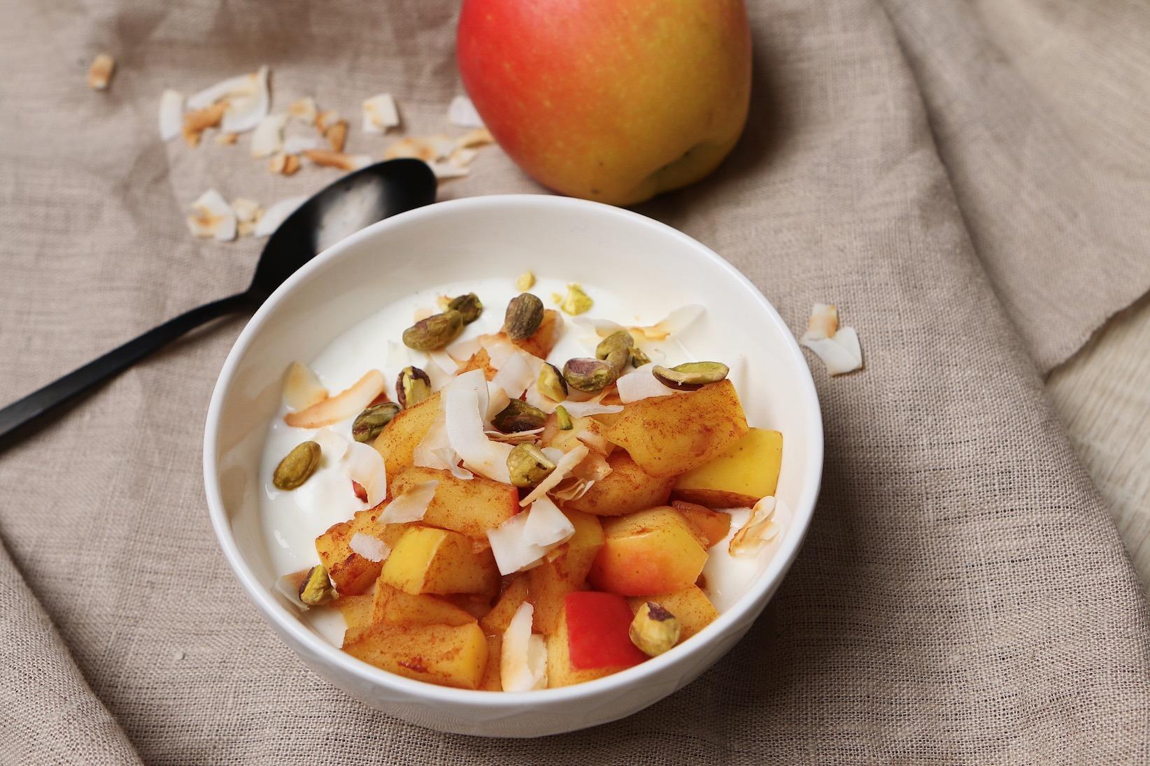 Header Gebakken appel Your Meal Planners: 3 x verwarmende wintersportgerechten voor een goede balans