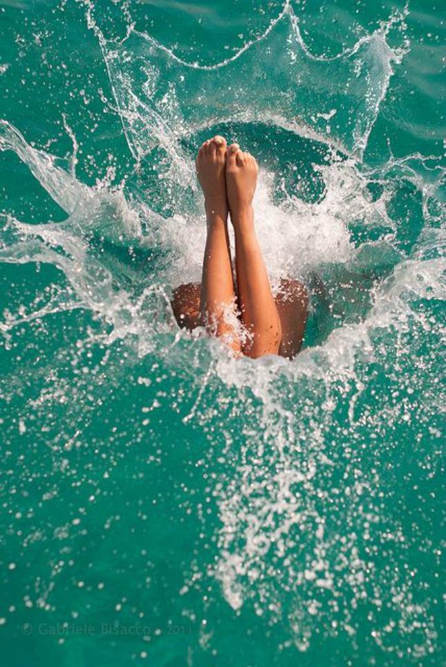 21 eerste duik in het zwembad #geluksmoment