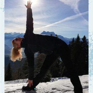yogaposes voor warming up voor de wintersport