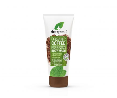 body wash Win een set Dr. Organic Coffee Products