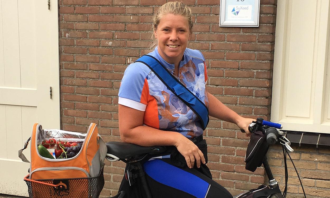 Marja fietst voor lokaal eten.