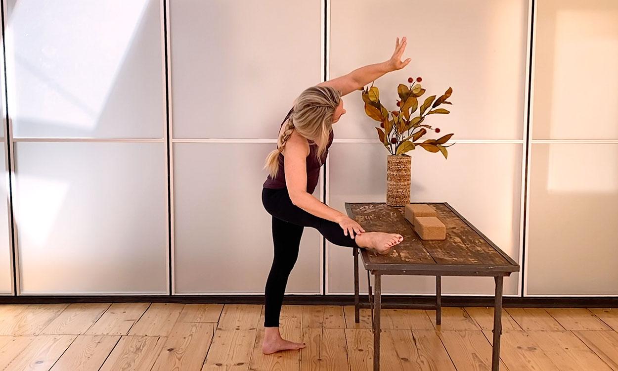 yoga aan tafel